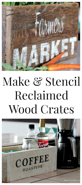 Make and Stencil Reclaimed Wood Crates