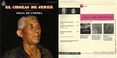 EL CHOZAS DE JEREZ - CANTES PERSONALES HISPAVOX 1972