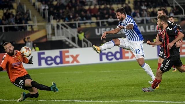 UEFA EL: Real Sociedad vs Vardar background