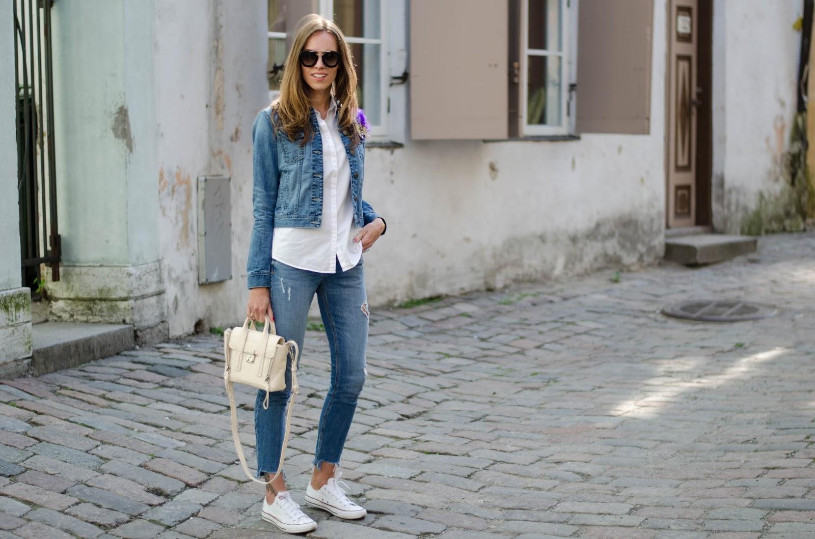 kristjaana mere denim spring minimalist outfit