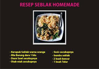 resep dan cara Membuat Seblak enak dan menarik ala ommasakom