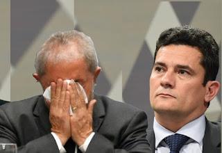 A PRESENÇA DE MORO FEZ LULA FICAR MUDO , sábio juiz