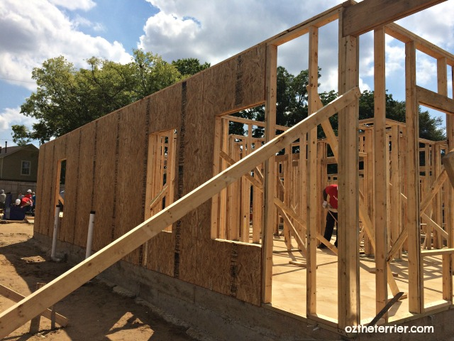 HFH carter work project 2016 house 2 walls up