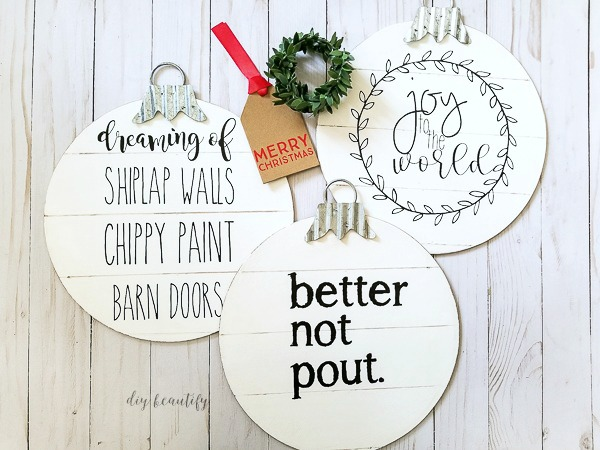 dollar store diy shiplap ornaments diy