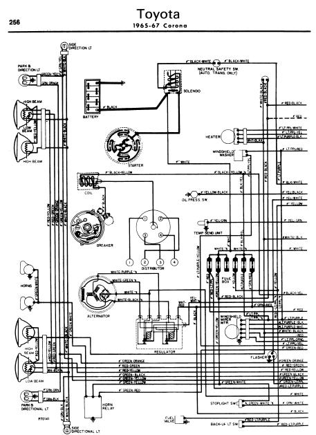 Toyota Corona 196567 Wiring Diagrams   Online Manual Sharing