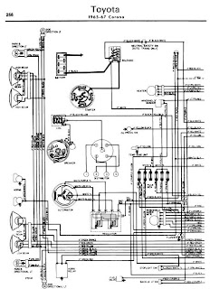 repair-manuals: Toyota Corona 1965-67 Wiring Diagrams