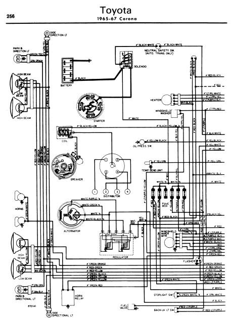 toyota corona 1965 67 wiring diagrams online manual sharing. Black Bedroom Furniture Sets. Home Design Ideas