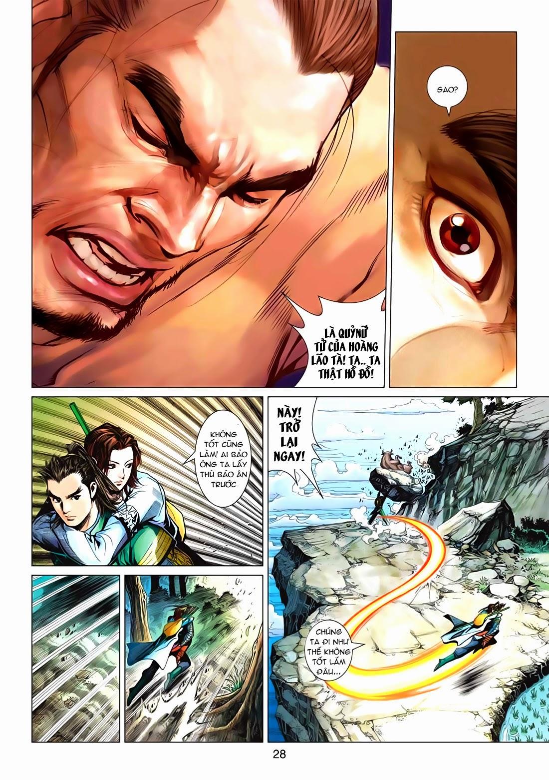 Anh Hùng Xạ Điêu anh hùng xạ đêu chap 72: ngư tiều canh độc trang 28