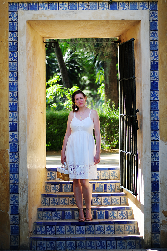Real Alcazar, Sevilla, nähen, sewing, DIY, Simplicity patterns, stoffe.de, embroidery, tassel erarrings, Quastenohrringe