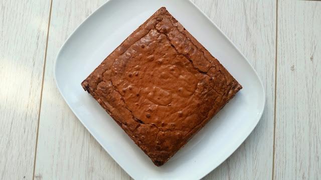 brownie vue de dessus