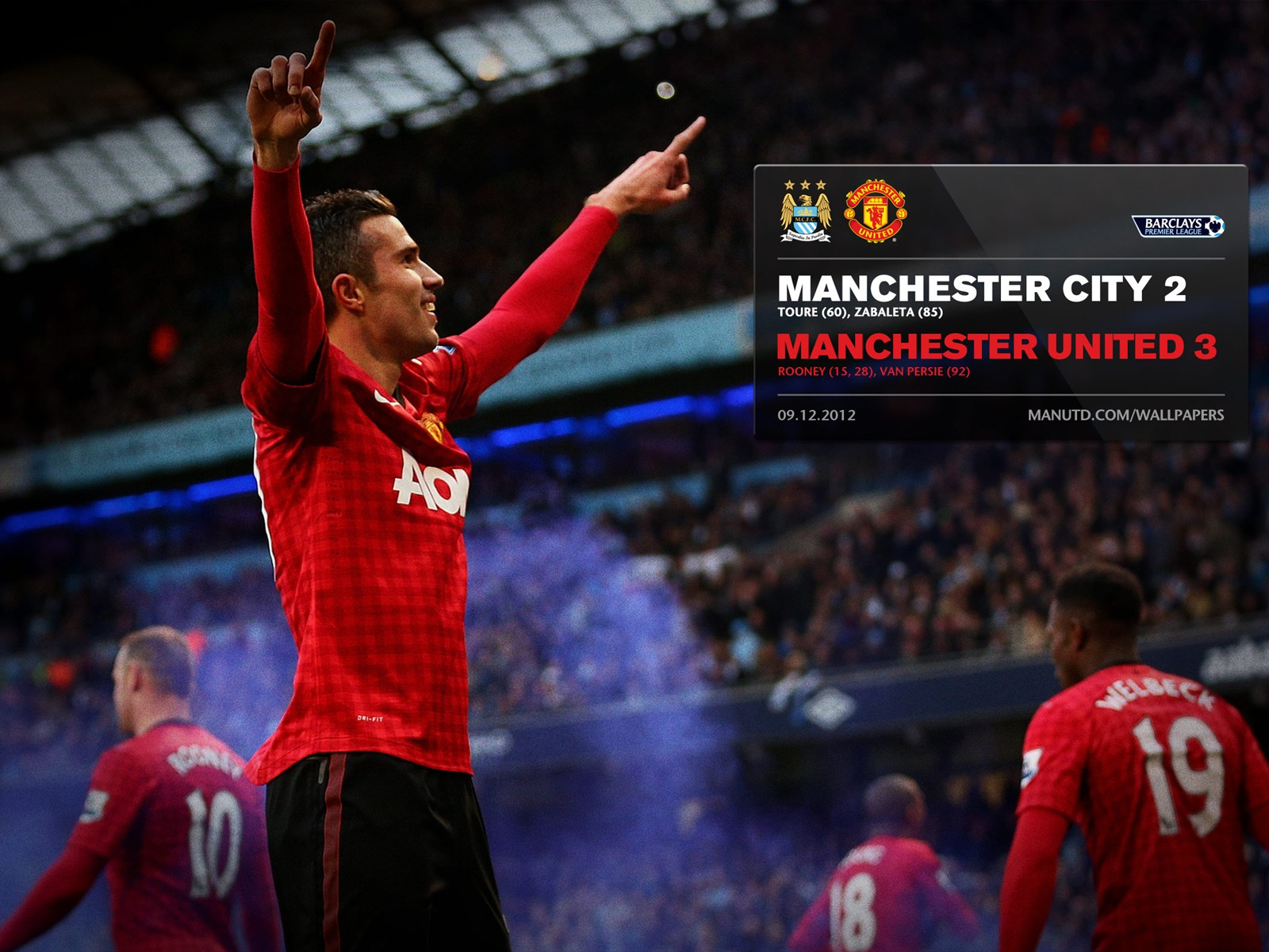 Manchester United Vs Manchester City: Pinal Score Wallpaper, Derby Manchester City Vs Manchester