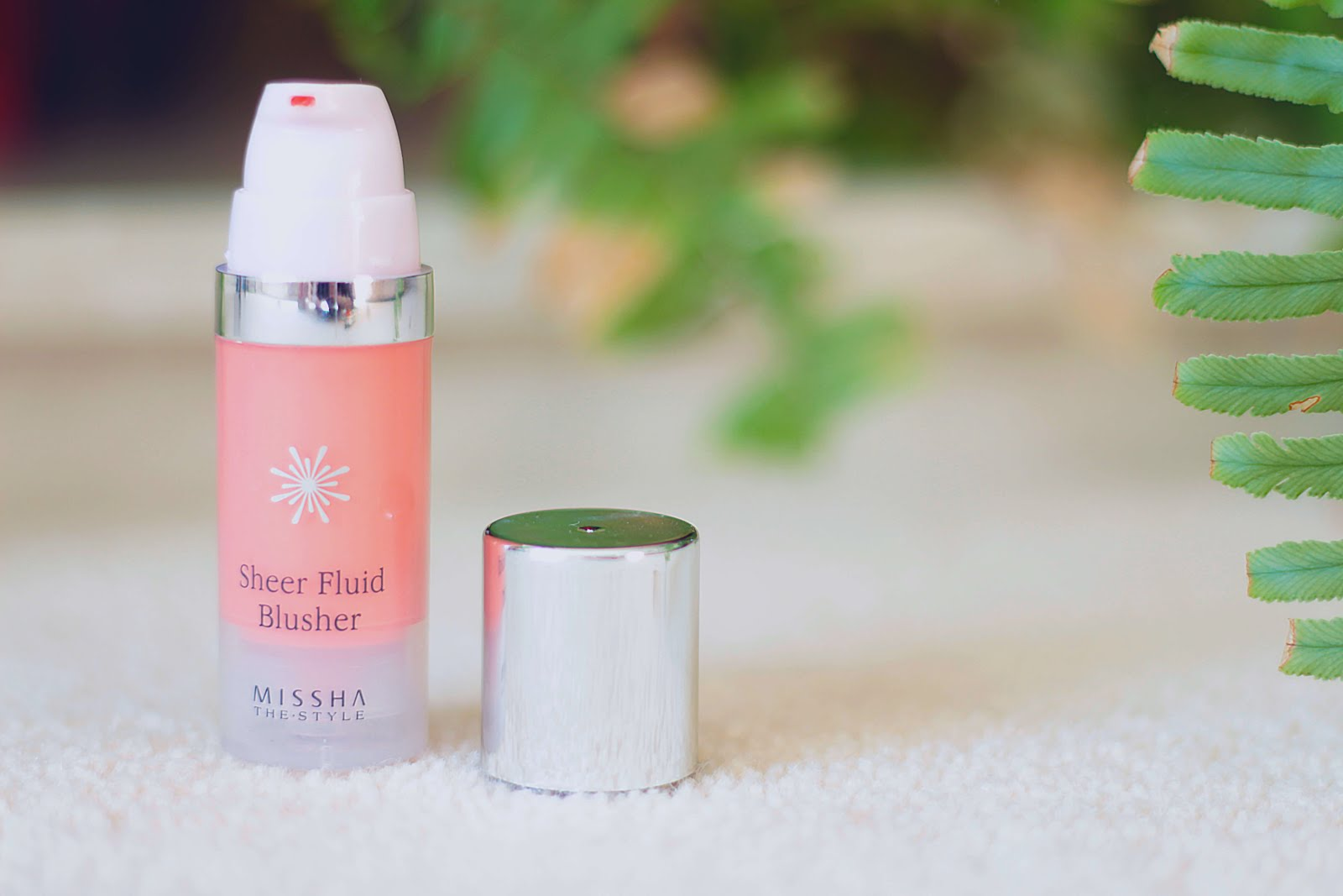 review missha sheer fluid blusher vivid coral uk beauty blogger