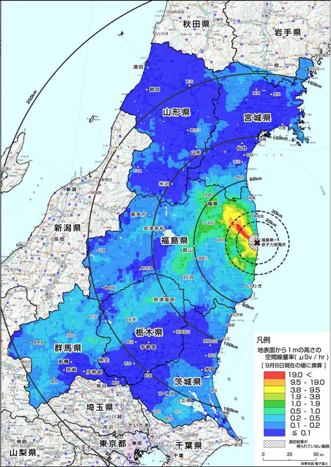 Japan Radiation Map Radiation Map by Ministry of Education: Gunma Looks Worse Than  Japan Radiation Map