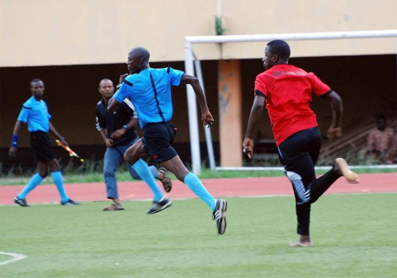 Hilarious scene from football match in Kwara