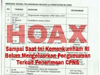 WASPADA!! Informasi Penerimaan CPNS Kementerian Hukum dan HAM (KEMENKUMHAM) 2017 yang Beredar Adalah HOAX