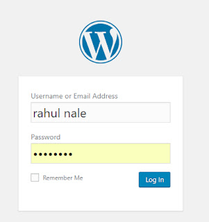 admin log in wordpress
