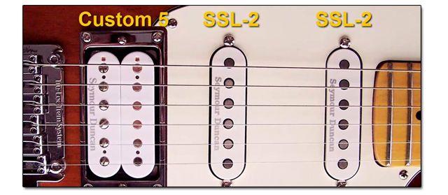Set de Pastillas Vintage o Clásicas para una Guitarra HSS