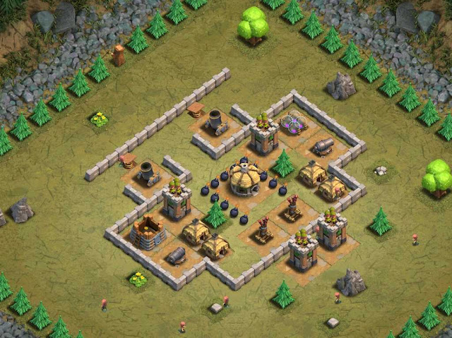 Goblin Base Clash of Clans Ommahha Beech