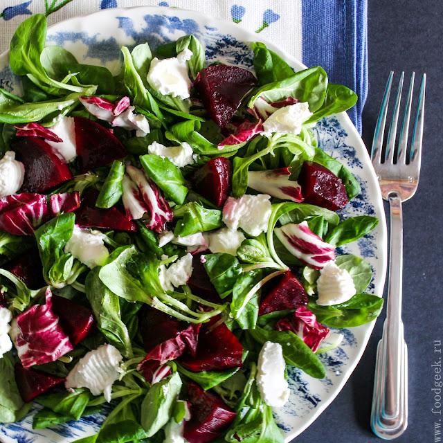 Салат неженка рецепт классический со свеклой