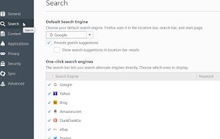 Search Engine pada Firefox