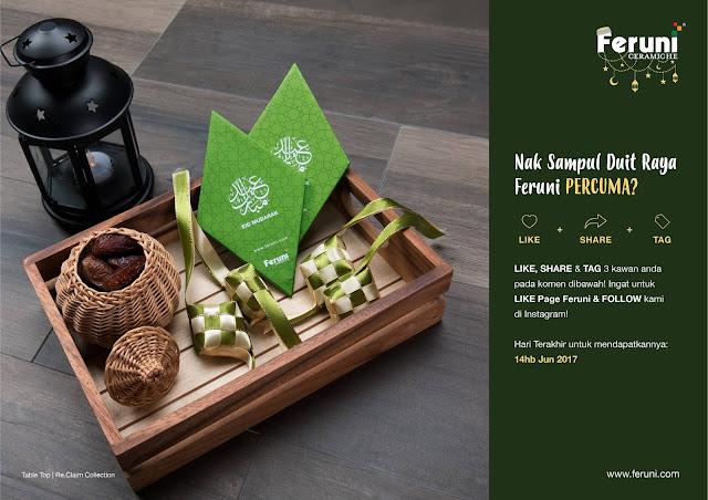 Feruni Jom Raya Green Packets Giveaway Sampul Duit Raya Percuma