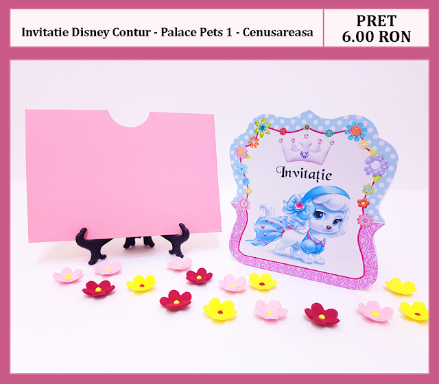invitatii botez contur Palace Pets
