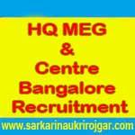 HQ MEG & Centre Bangalore Jobs