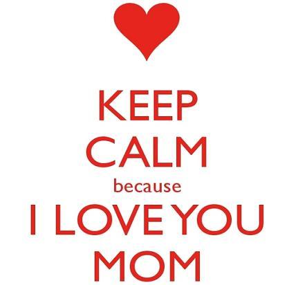 I love you mom pic