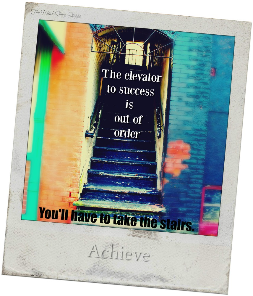 The elevator to success is out-of-order. You'll have to take the stairs.
