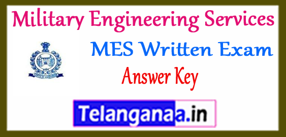 MES Military Engineering Services Answer Key Expected Cut Off Results 2017-18