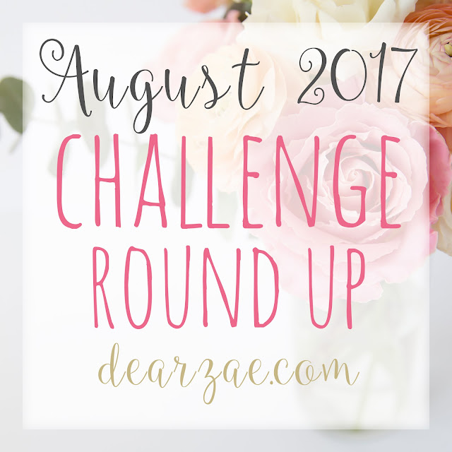 August 2017 Scrapbooking challenge round up list