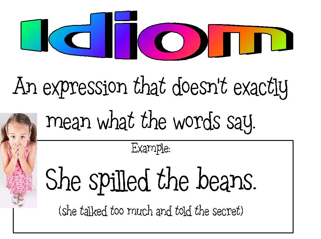 idiom examples in literature