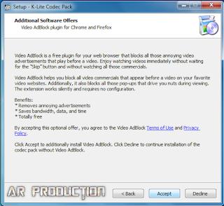 Tahap 7 Instalasi K-Lite Codec Pack Beserta Gambar