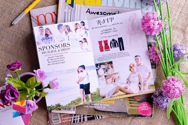 Labels Magazine Style Pocket Type Invitation Wedding