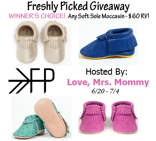 Winner's Choice of Freshly Picked Moccasins Giveaway worth $60 RV - open to US