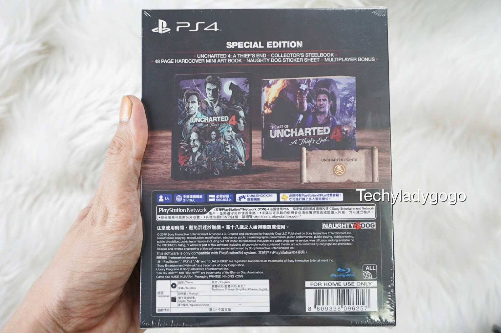 แกะกล่องเกม PS4 UNCHARTED 4 A Thief's End Special Edition Asian Version Unboxing