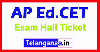 AP EDCET 2017 Hall Tickets Download B.Ed Hall Ticket 2017