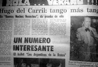 Hugo del Carril en Necochea