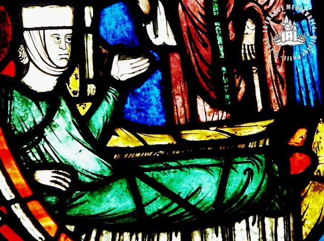 PARIS (75) - Musée du Louvre : Vitrail de Saint-Blaise (1er quart du XIIIe siècle)