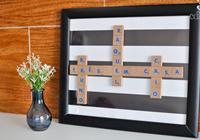 quadro com letras de madeira