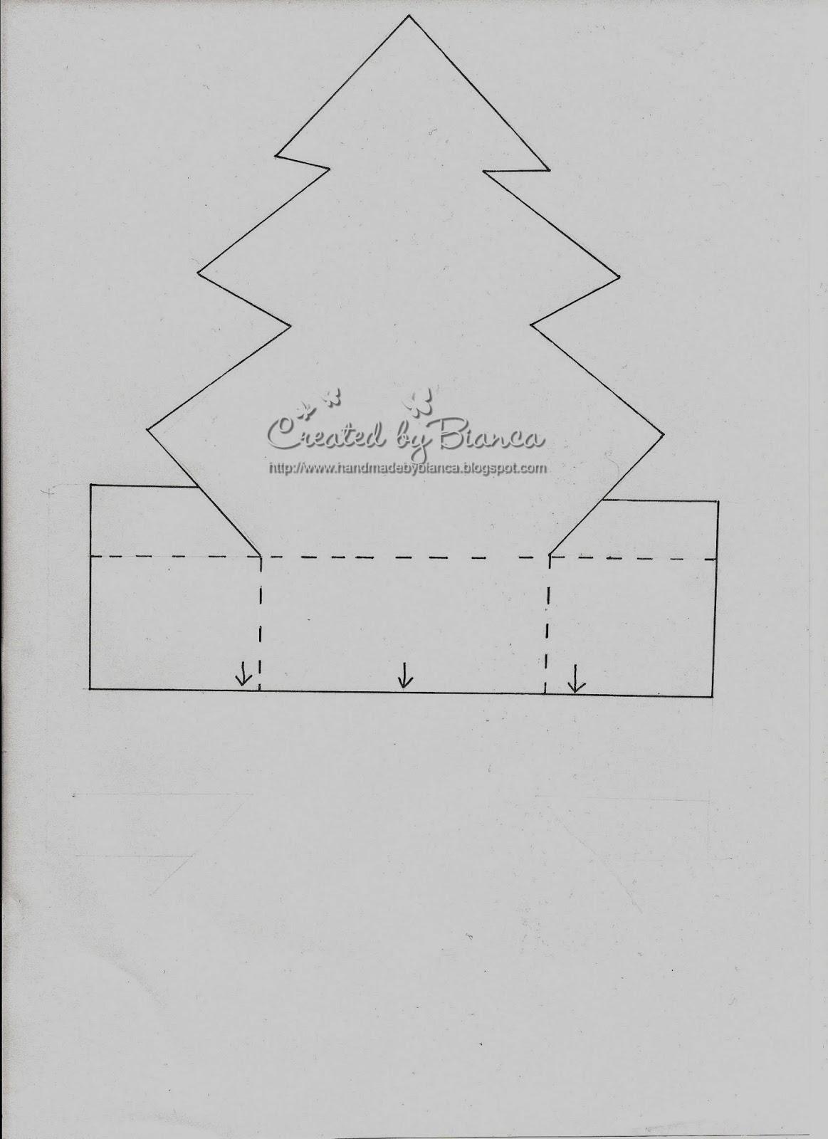 Handmade by Bianca: Weihnachtsbaumbox, mit Vorlage zum ausdrucken