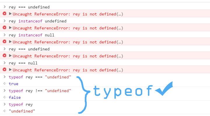 typeof method to check 'undefined'