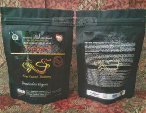 kemasan produk kopi luwak bandung 100 gr