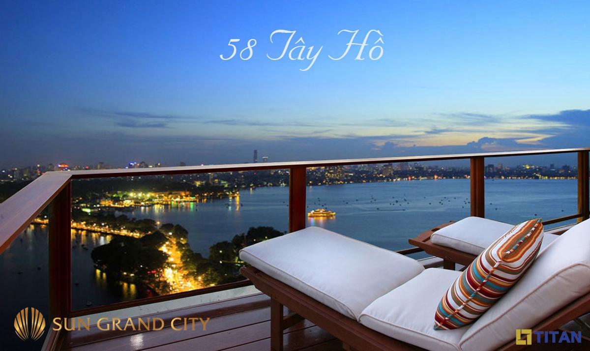 Không gian resort ở Sun Grand City 58 Tây Hồ Quảng An