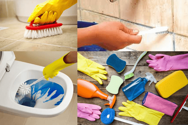 Membuat Kamar Mandi Bersih