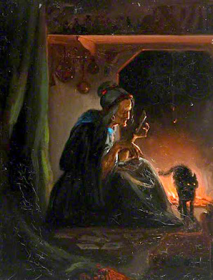 Old Woman beside a fire (1860-74), Josephine Bowes