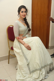 Raashi Khanan looks stunning in Crop Top Deep neck Choli Ghagra Transparent Chunni WOW ~  Exclusive Celebrities Galleries 030.JPG