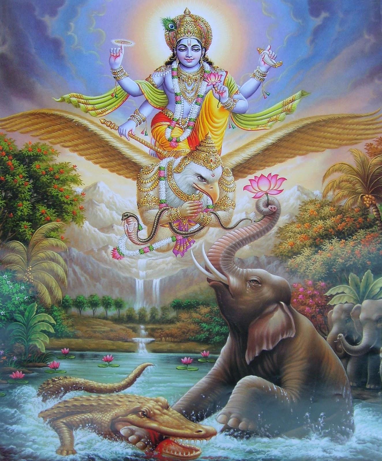 Indian Gods: Lord Vishnu&lakshmi Hd Images