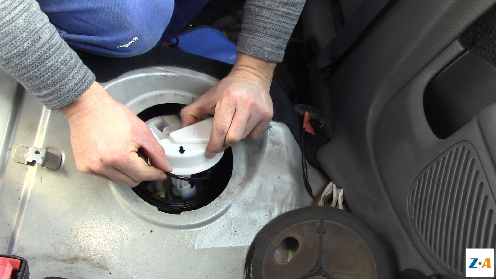 Le joint assurant l'étanchéité entre la pompe et le réservoir
