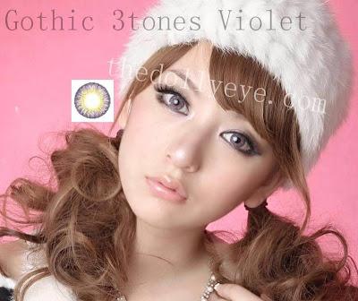 contact lens, gothic tritones violet